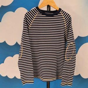 Mini Boden Elbow Sleeve T-shirt Tee Navy Boys 9 10